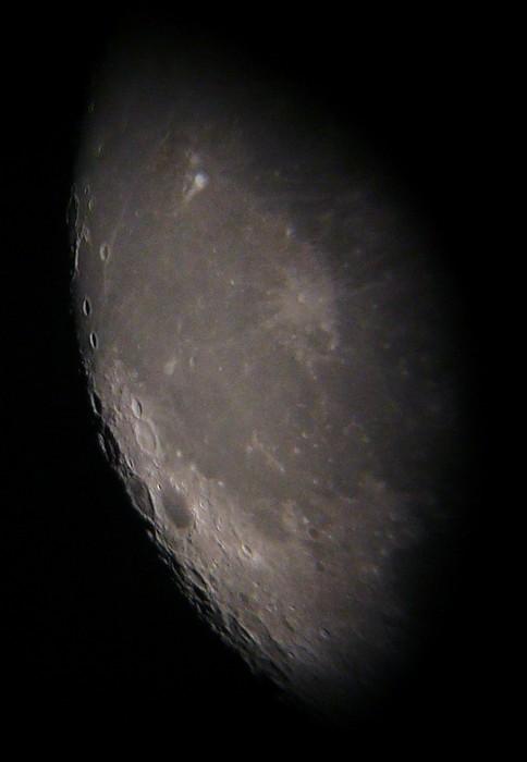 De rand van de maan.