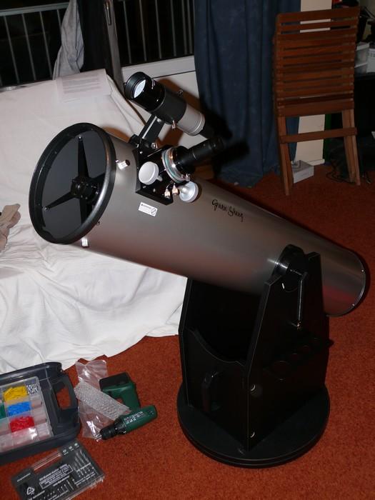 Mijn telescoop, net na assemblage.