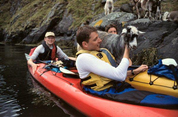 Ik, Michiel, Yvonne en een varende geit.